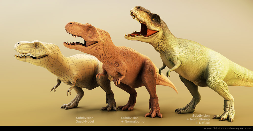 Freework - View more - TREX - SubD - Rigged - Animated