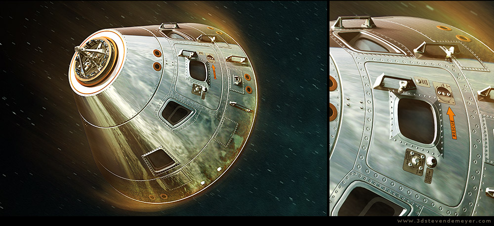 Freework - View more - APOLLO Command Module - SubD
